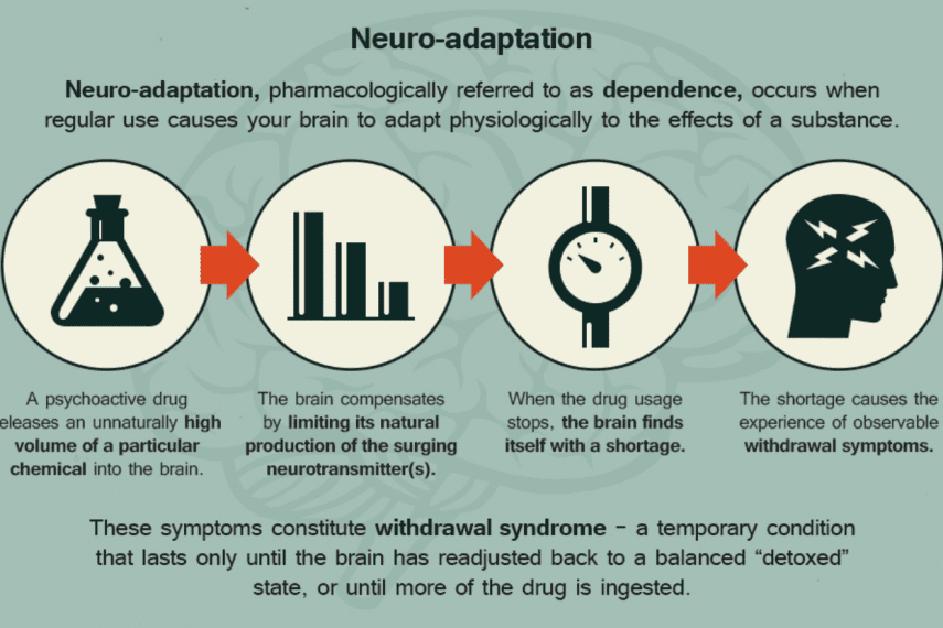 Neuroadaptation Leading to Withdrawal