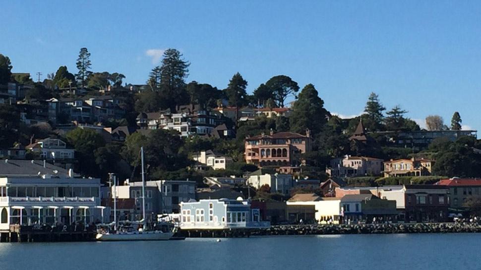 View of Alta Mira from San Francisco Bay